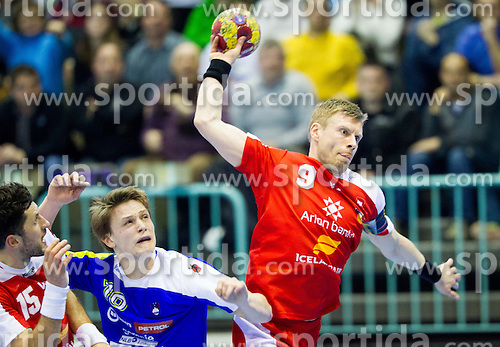 Gudjon Valur Sigurdsson of Iceland during handball match between National teams of Slovenia and Iceland in 3rd Round of Qualification of Men's European Championship Denmark 2014 on April 3, 2013 in Arena Tabor, Maribor, Slovenia. Iceland defeated Slovenia 29-28. (Photo By Vid Ponikvar / Sportida)