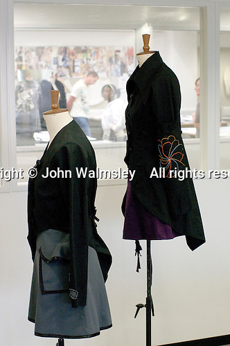 Display mannequins in the Fashion Dept., Open Day at Kingston College when prospective students and their parents look around.