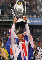 CARSON, CA - DECEMBER 01, 2012:   David Beckham (23) of the Los Angeles Galaxy after beating the Houston Dynamo during the 2012 MLS Cup at the Home Depot Center, in Carson, California on December 01, 2012. The Galaxy won 3-1.
