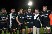 Bath Rugby Head Coach Mike Ford speaks to his team after the match. European Rugby Champions Cup match, between Bath Rugby and Leinster Rugby on November 21, 2015 at the Recreation Ground in Bath, England. Photo by: Patrick Khachfe / Onside Images