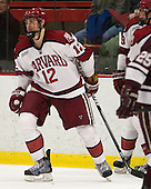 Brendan Rempel (Harvard - 12) - The Harvard University Crimson defeated the Colgate University Raiders 4-1 (EN) on Friday, February 15, 2013, at the Bright Hockey Center in Cambridge, Massachusetts.