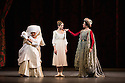 London, UK. 17.04.13. Canada's premier dance company The National Ballet of Canada returns to London after 26 years with its new production of Romeo and Juliet, which was created in 2011 to mark the company's 60th anniversary. Picture shows: Lorna Geddes (Nurse), Heather Ogden (Juliet) and Alejandra Perez-Gomez (Lady Capulet). Photograph © Jane Hobson.