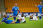 St Johnstone v Bolton....02.08.10  Pre-Season Friendly.Sam Parkin and Fabrice Muamba.Picture by Graeme Hart..Copyright Perthshire Picture Agency.Tel: 01738 623350  Mobile: 07990 594431
