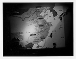 Map displaying Japanese Imperial Army invasion plans in China downplays a massive war effort of conquest into the &quot;China Incident Operation&quot; at &quot;Yushukan&quot; War Memorial Museum..
