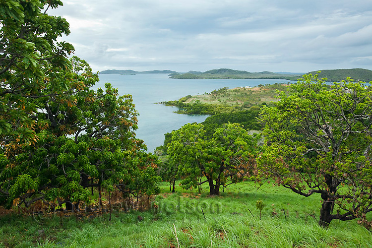 View of the Torres Strait islands from Green Hill Fort.  Thursday Island, Torres Strait Islands, Queensland, Australia