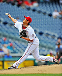 8 September 2011: Washington Nationals pitcher Chien-Ming Wang on the mound against the Los Angeles Dodgers at Nationals Park in Washington, DC. The Dodgers defeated the Nationals 7-4 to take the third game of their 4-game series. Mandatory Credit: Ed Wolfstein Photo