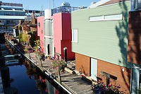 Houseboats at Sea Village, Granville Island, Vancouver, British Columbia, Canada