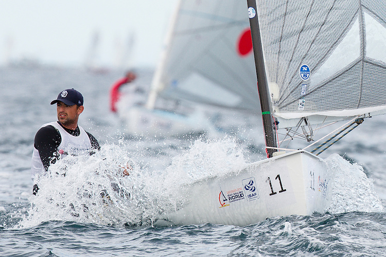 SANTANDER, SPAIN - SEPTEMBER 19:  Finn - USA6 - Caleb Paine in action during Day 8 of the 2014 ISAF Sailing World Championships on September 19, 2014 in Santander, Spain.  (Photo by MickAnderson/SAILINGPIX via Getty Images)