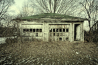Abandoned garage in the woods