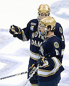 Ryan Thang (Notre Dame 9), Ben Ryan (Notre Dame 19) - The Boston College Eagles won the NCAA D1 national championship by defeating the University of Notre Dame Fighting Irish 4-1 in the final of the 2008 Frozen Four at the Pepsi Center in Denver, Colorado on Saturday, April 12, 2008.