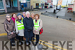 A LOAD OF BALLS: 22 black ball type bollards were laid by Kerry County Council last week and locals now have many safety concerns. Pictured were: Christina Kennelly, Mai Langan and Noel Nash, Pat Buckley, Carmel Nash, Kathleen Collins and Pat O'Connor