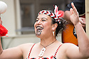 Edinburgh, UK. 04.08.2014.  New Zealand at Edinburgh 2014 Season Media Launch launches at the Assembly Roxy, Backyard Bar. Picture shows: Haka by Te Matatini. Photograph © Jane Hobson