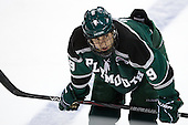 Kyle Greco (PSU - 9) - The visiting Plymouth State University Panthers defeated the Wentworth Institute of Technology Leopards 2-1 on Monday, November 19, 2012, at Matthews Arena in Boston, Massachusetts.