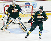 Brody Hoffman (UVM - 37), Anders Franzon (UVM - 27) - The Boston College Eagles defeated the University of Vermont Catamounts 4-1 on Friday, February 1, 2013, at Kelley Rink in Conte Forum in Chestnut Hill, Massachusetts.