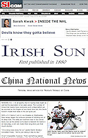 Article on SI.com that was also picked up in Ireland and China using my photo online.