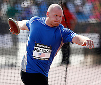 Karl Erickson had a mark of 59.34m in the discus throw at the Adidas Track Classic held at the Home Depot Center on Saturday, May 16, 2009. Photo by Errol Anderson,The Sporting Image.net