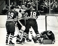 California Golden Seals action in the Western Hockey League in 1967..(photo/Ron Riesterer)