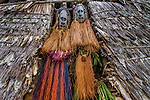 Sepik men in masks, Papua New Guinea