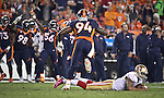 SHOT 10/19/14 6:45:42 PM - Denver Broncos defensive end DeMarcus Ware #94 looks to his teammates to celebrate after sacking San Francisco 49ers quarterback Colin Kaepernick #7 at Sports Authority Field at Mile High Sunday October 19, 2014 in Denver, Co. The Broncos beat the 49ers 42-17.<br /> (Photo by Marc Piscotty / &copy; 2014)