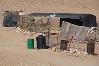 Bedouin tent with an Israeli flag next to Mitspe Ramon. Photo by Oren Nahshon
