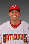 14 March 2008: ..Portrait of Josh Perrault, Washington Nationals Minor League player at Spring Training Camp 2008..Mandatory Photo Credit: Ed Wolfstein Photo