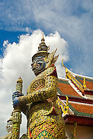 Construction of the Grand Palace in Bangkok began during the reign of King Rama I in 1782. It served as the official residence of the Kings of Thailand for 200 years. With its massive white walls and brilliant orange, green, and gold rooftops, Wat Phra Kaew and the Grand Palace is a small city in itself with more than 100 buildings, temples, and statues..