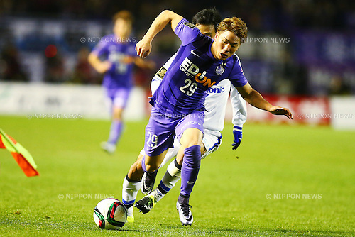 Takuma Asano (Sanfrecce), <br /> DECEMBER 5, 2015 - Football / Soccer : <br /> 2015 J.League Championship Final 2nd leg match<br /> between Sanfrecce Hiroshima - Gamba Osaka<br /> at Hiroshima Big Arch in Hiroshima, Japan.<br /> (Photo by Shingo Ito/AFLO SPORT)
