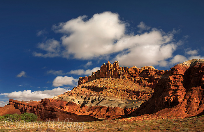 731350254 the castle formation and the waterpocket fold in capitol reef national park utah united states