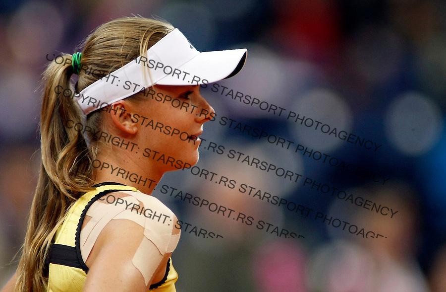 Tennis, FED CUP.Serbia Vs. Slovakia.Jelena Jankovic Vs. Daniela Hantuchova.Daniela Hantuchova, react.Beograd, 25.04.2010..foto: Srdjan Stevanovic/Starsportphoto ©