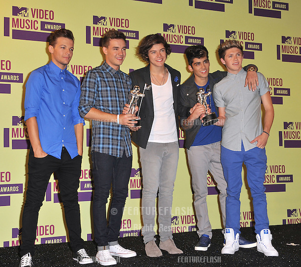 One Direction at the 2012 MTV Video Music Awards at the Staples Center, Los Angeles..September 6, 2012  Los Angeles, CA.Picture: Paul Smith / Featureflash