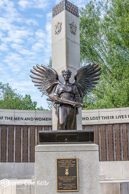 Veterans Memorial Park in The Back Bay Fens, Boston, Massachusetts, USA