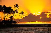 Sunset, Mauna Lani, Kohala Coast, Island of Hawaii, Hawaii, USA<br />