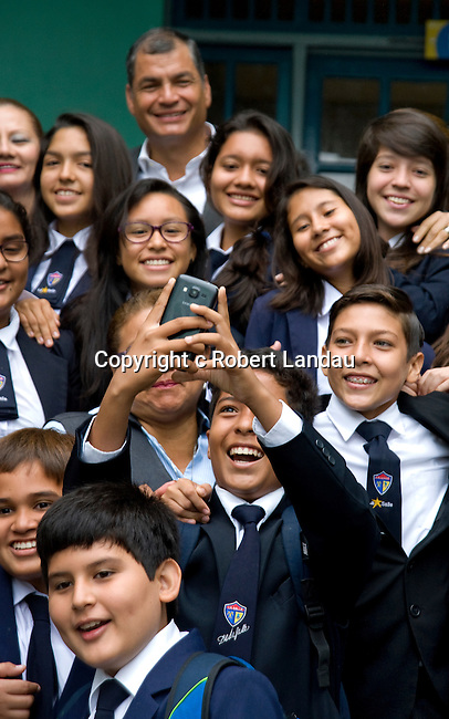 President Correa visits his childhood school in Guayaquil