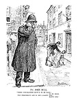"P.C. John Bull. ""When conciliation duty's to be done - to be done, the policeman's lot is not a happy one - happy one."""