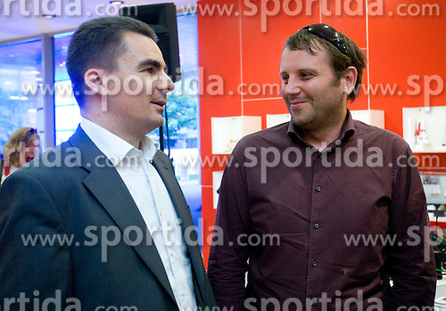 Danilo Tomsic, sales director in Mobitel d.d. and Jure Teodorovic of Mobitel d.d. at visit  of Slovenian National Football team in Mobitel center, on May 19, 2010 in Ciytpark, BTC, Ljubljana, Slovenia. (Photo by Vid Ponikvar / Sportida)