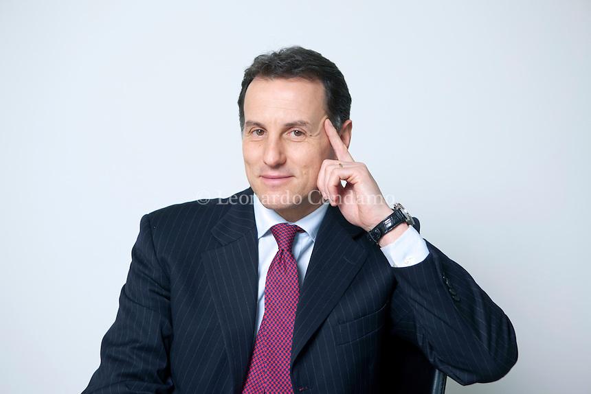 Stefano Scabbio, scrittore e Presidente Manpower Italia. Febbraio 2011.  © Leonardo Cendamo