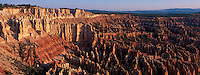 USA, Utah, Bryce Canyon NP, Bryce Amphitheatre, elevated view, hoodoos