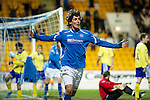 St Johnstone v Kilmarnock..28.12.11   SPL .Fran Sandaza celebrates his second goal.Picture by Graeme Hart..Copyright Perthshire Picture Agency.Tel: 01738 623350  Mobile: 07990 594431