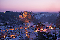 Pottenstein, Franconia, Germany on evening of  Pottenstein Ewige Anbetung - Lichterfest, January 6, 2009