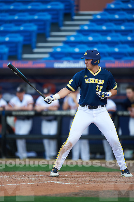 The University of Michigan baseball team beats Canisius, 9-3, at Port St. Lucie, Fla., on Feb. 21, 2016.