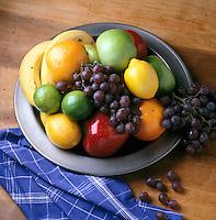 FRUIT BOWL<br /> Nutritional source of fructose &amp; carbohydrates<br /> Apples, oranges, bananas, grapes, lemons &amp; limes.