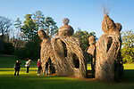 Big Easy, sculpture by patrick dougherty, in Sarah P. Duke Gardens