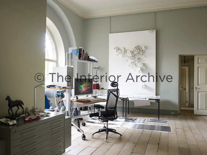 Lord March's studio cuts a contemporary contrast to the grandeur of many of the public rooms