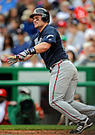 12 April 2008: Atlanta Braves' outfielder Matt Diaz in action against the Washington Nationals at Nationals Park, in Washington, DC. The Braves defeated the Nationals 10-2...Mandatory Photo Credit: Ed Wolfstein Photo