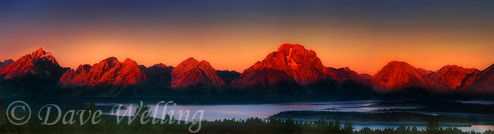 937000013 dawn over the tetons View from signal mountain grand tetons national park wyoming