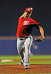5 March 2012: Washington Nationals pitcher Waldis Joaquin on the mound during a Spring Training game against the New York Mets at Digital Domain Park in Port St. Lucie, Florida. The Nationals defeated the Mets 3-1 in Grapefruit League play. Mandatory Credit: Ed Wolfstein Photo