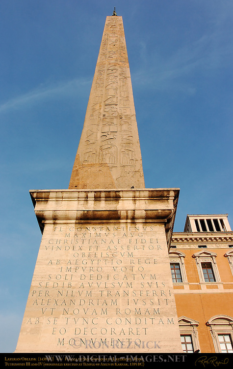 Lateran Obelisk Tuthmosis III 1430 BC Sunset Piazza di San Giovanni in Laterano Rome