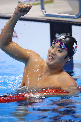 Masato Sakai (JPN), <br /> AUGUST 9, 2016 - Swimming : <br /> Men's 200m Butterfly Final <br /> at Olympic Aquatics Stadium <br /> during the Rio 2016 Olympic Games in Rio de Janeiro, Brazil. <br /> (Photo by Yohei Osada/AFLO SPORT)