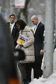 Chicago, IL - December 19, 2008 -- First lady in waiting Michelle Obama gets into a car after leaving the University of Chicago Laboratory Schools where her daughters attend school Friday morning, December 19, 2008.  .Credit: Anne Ryan - Pool via CNP