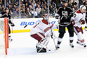 Ilya Bryzgalov (Phoenix Coyotes, #30) receives first and only goal in the game during ice-hockey match between Los Angeles Kings and Phoenix Coyotes in NHL league, March 3, 2011 at Staples Center, Los Angeles, USA. (Photo By Matic Klansek Velej / Sportida.com)